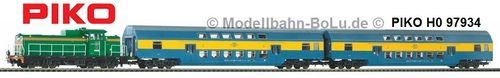PIKO H0 97934 Start-Set SM42 mit Doppelstockwagen PKP