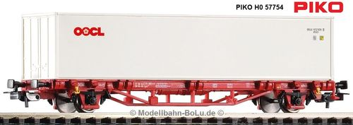 PIKO H0 58754 Containertragwagen Lgs579 NS VI 1x40' Container
